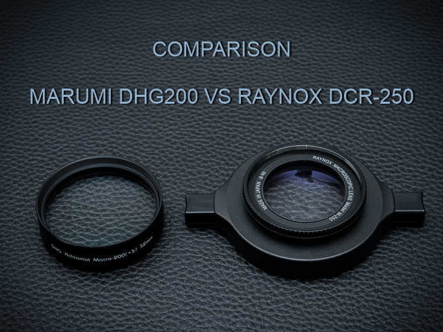 Marumi DHG200 vs Raynox DCR-250 comparison review